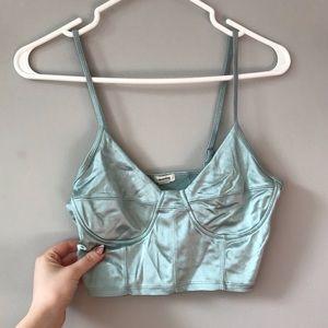 🔥3/30$ teal corset crop top